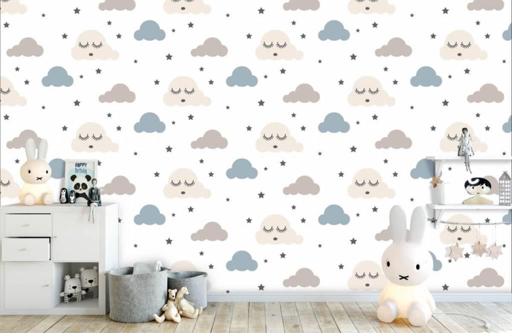 Baby Tapete - Schlafende Wolken - Babyzimmer 5