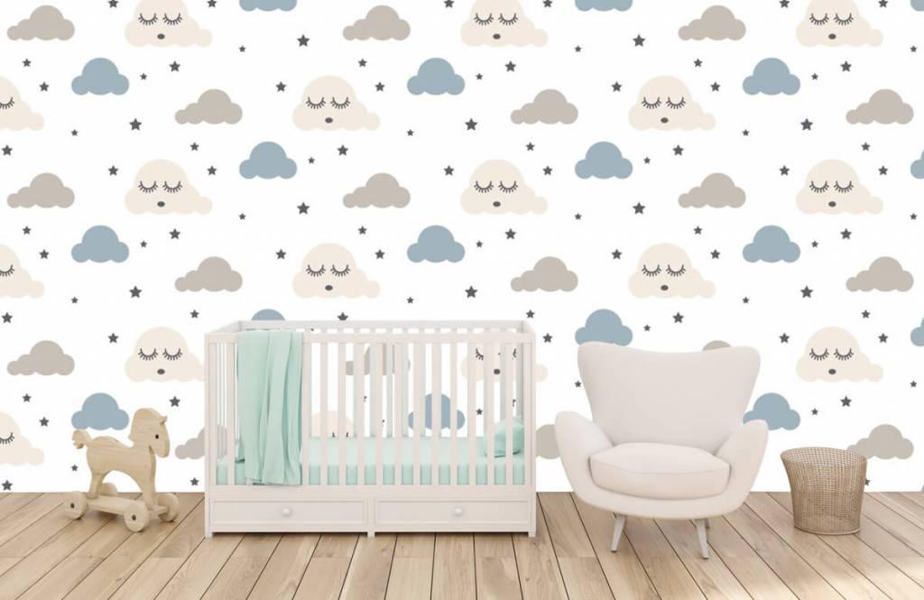 Baby Tapete - Schlafende Wolken - Babyzimmer 6