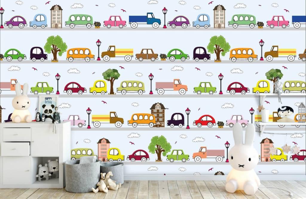 Baby Tapete - Fahrzeuge - Babyzimmer 2