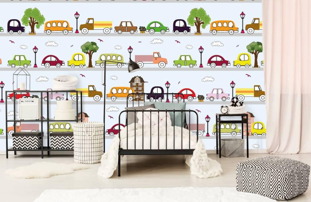 Baby Tapete - Fahrzeuge - Babyzimmer 3