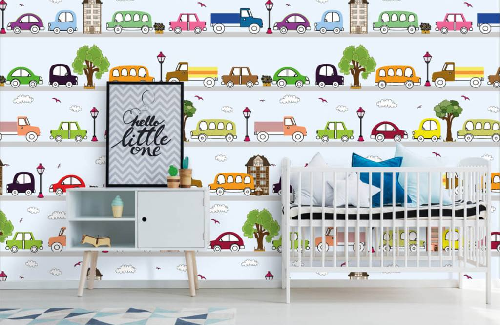 Baby Tapete - Fahrzeuge - Babyzimmer 5