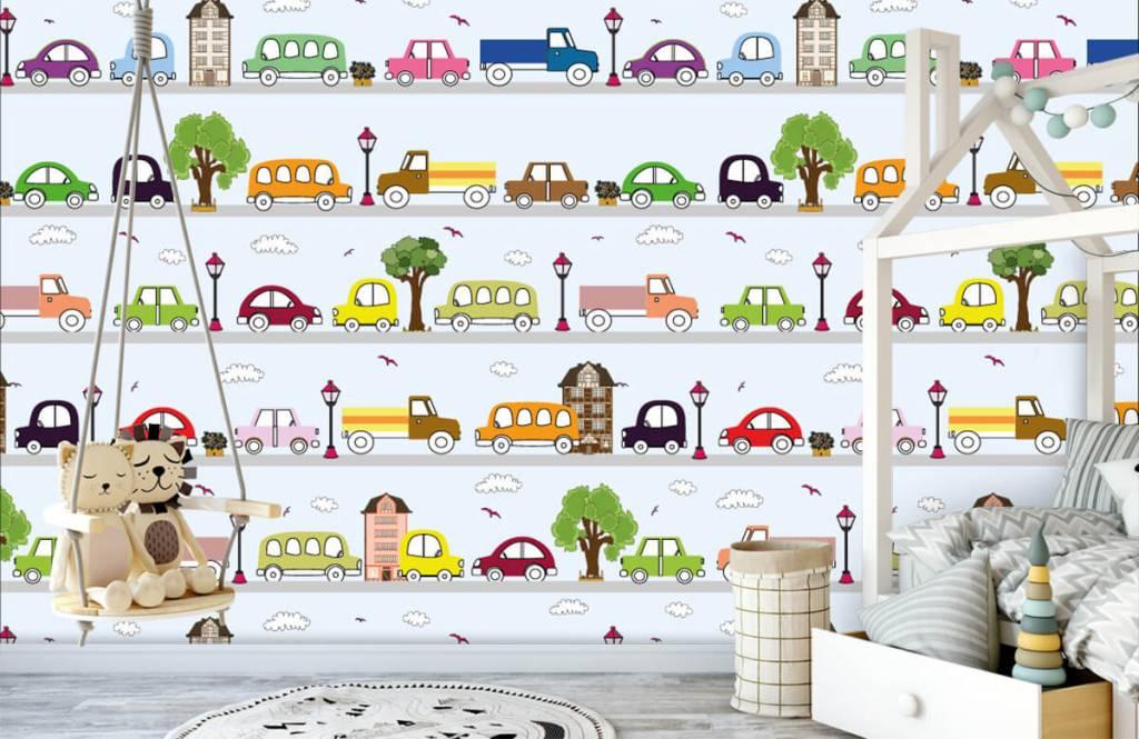 Baby Tapete - Fahrzeuge - Babyzimmer 6