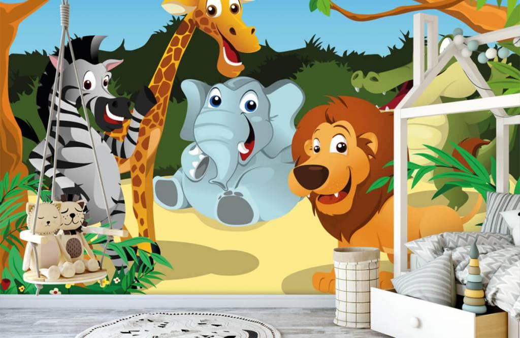 Safari-Tiere - Fröhliche wilde Tiere - Kinderzimmer 1