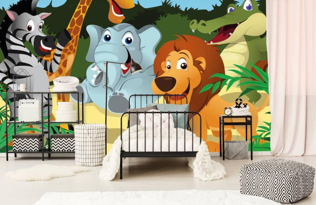 Safari-Tiere - Fröhliche wilde Tiere - Kinderzimmer 2