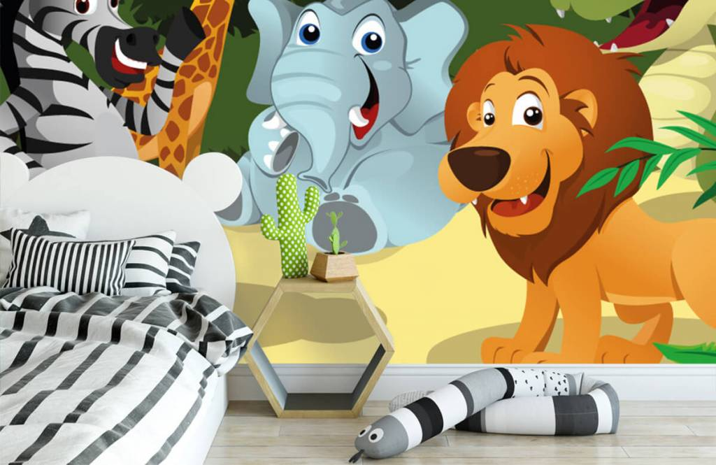 Safari-Tiere - Fröhliche wilde Tiere - Kinderzimmer 3