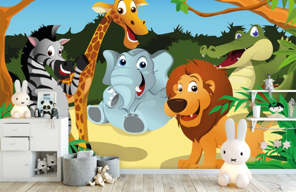 Safari-Tiere - Fröhliche wilde Tiere - Kinderzimmer 4