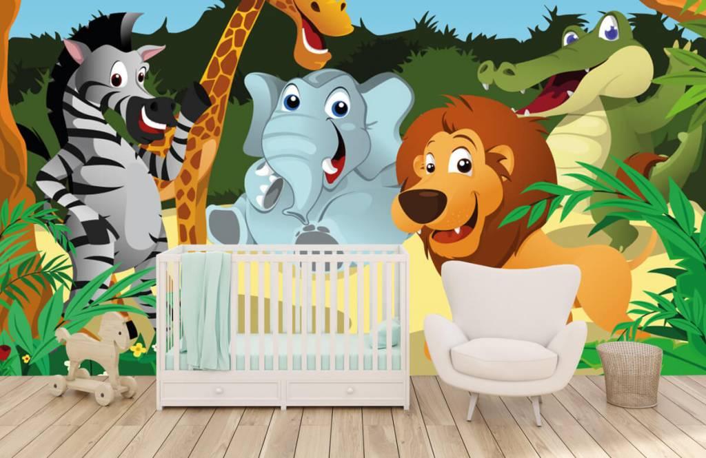 Safari-Tiere - Fröhliche wilde Tiere - Kinderzimmer 5
