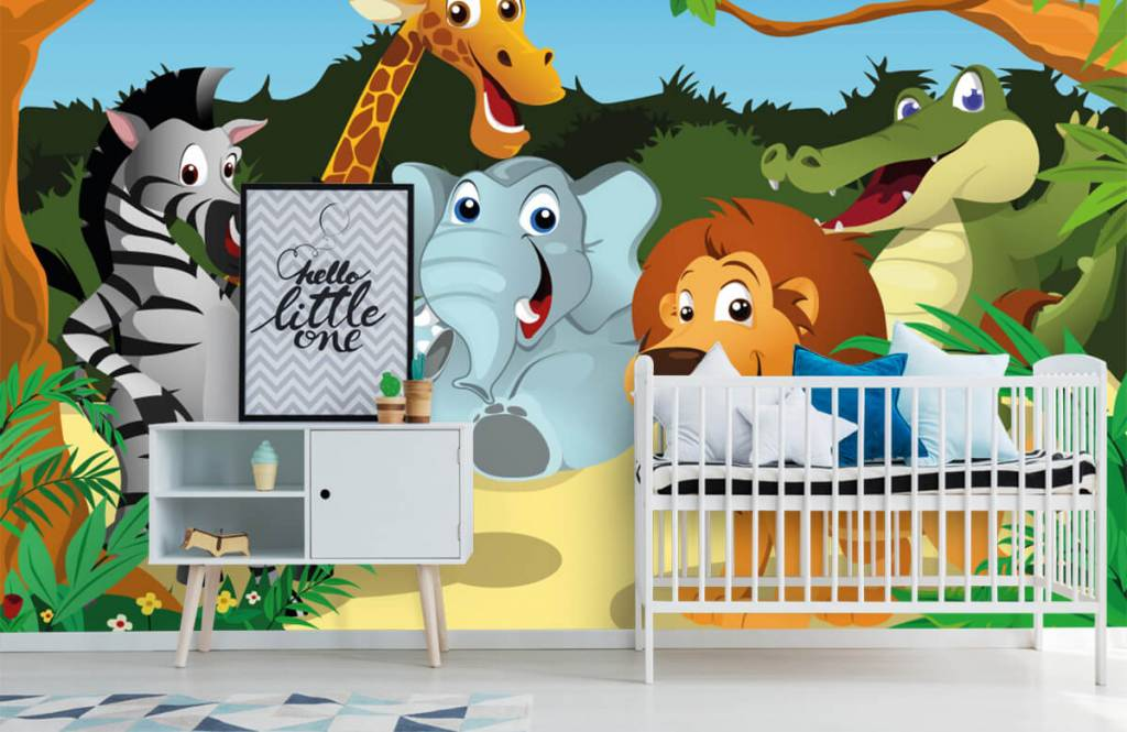 Safari-Tiere - Fröhliche wilde Tiere - Kinderzimmer 6