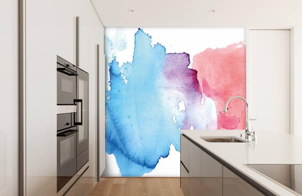 Abstrakte Tapete - Abstrakte Wasserfarbe - Eingang 4