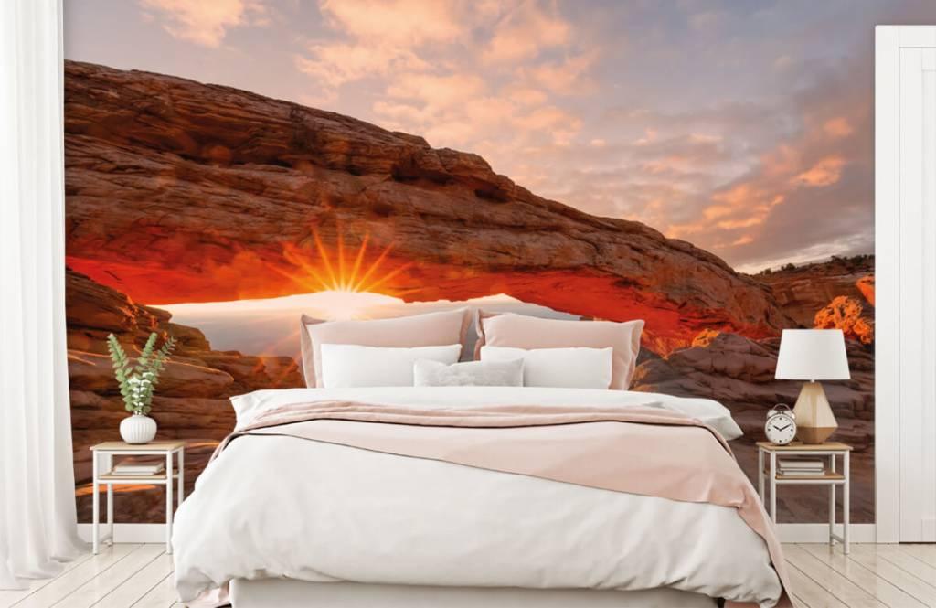 Bergen - Sonnenuntergang zwischen Felsen - Schlafzimmer 1