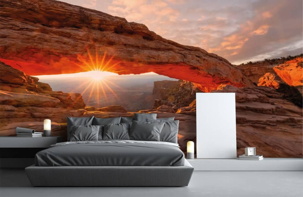 Bergen - Sonnenuntergang zwischen Felsen - Schlafzimmer 2