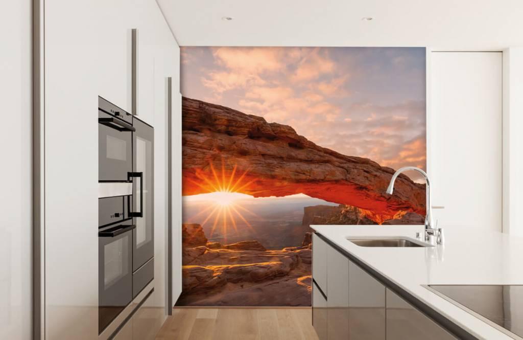 Bergen - Sonnenuntergang zwischen Felsen - Schlafzimmer 3