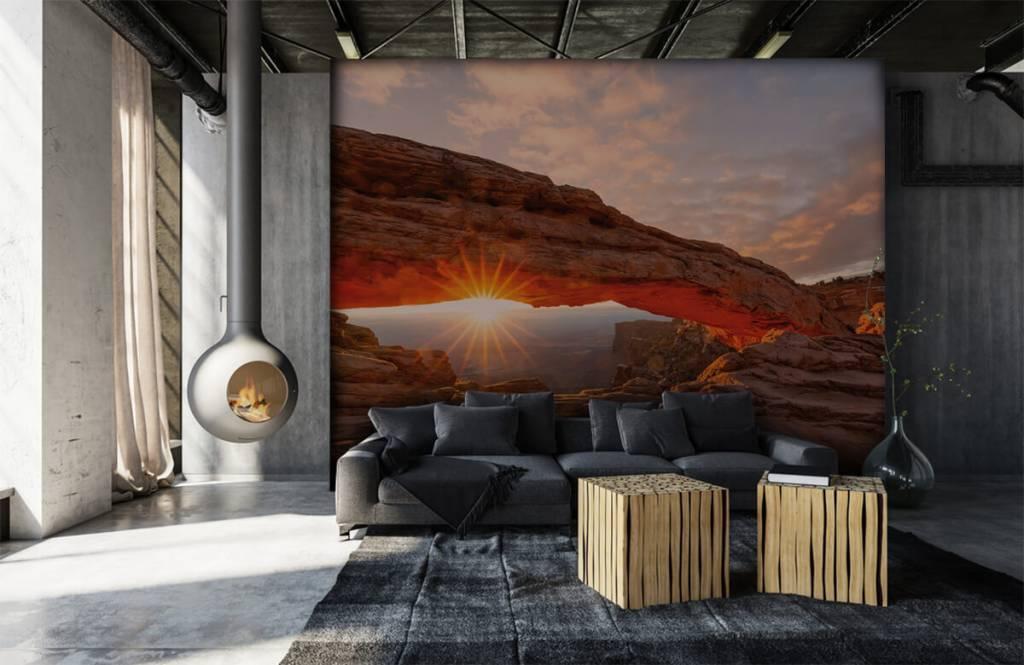Bergen - Sonnenuntergang zwischen Felsen - Schlafzimmer 6