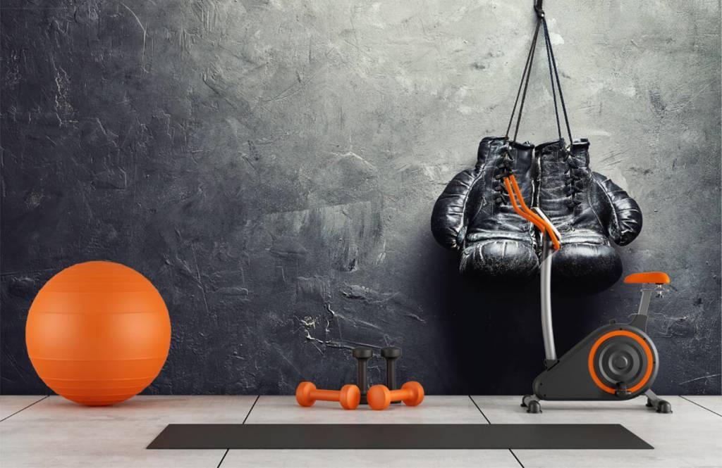 Fitness - Schwarze Boxhandschuhe - Hobbyzimmer 1