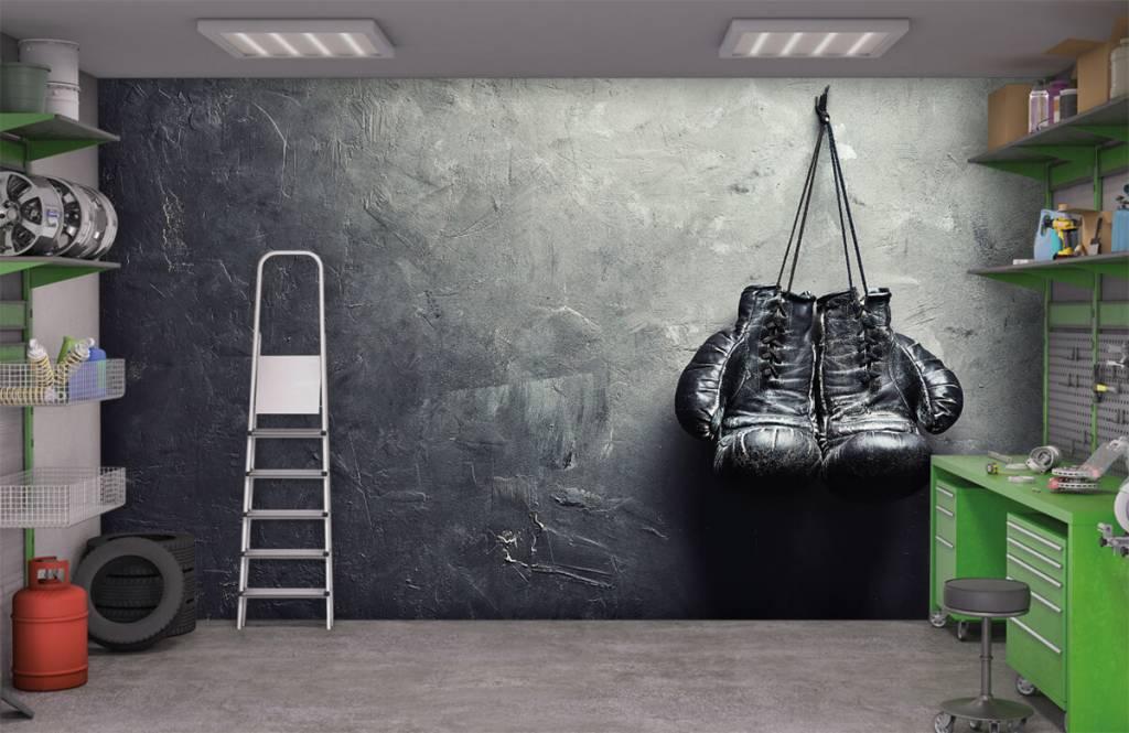 Fitness - Schwarze Boxhandschuhe - Hobbyzimmer 3