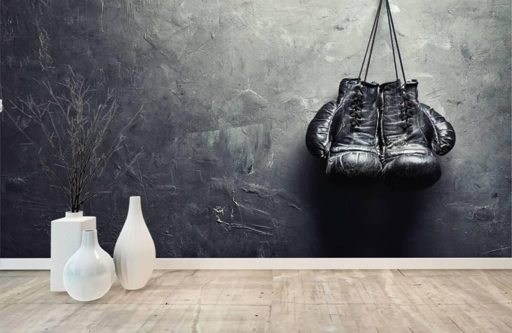 Fitness - Schwarze Boxhandschuhe - Hobbyzimmer 9