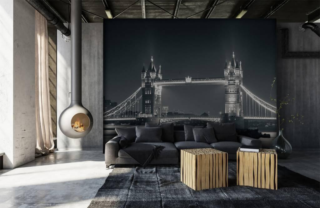 Schwarzweiß Tapete - Tower Bridge - Jugendzimmer 6