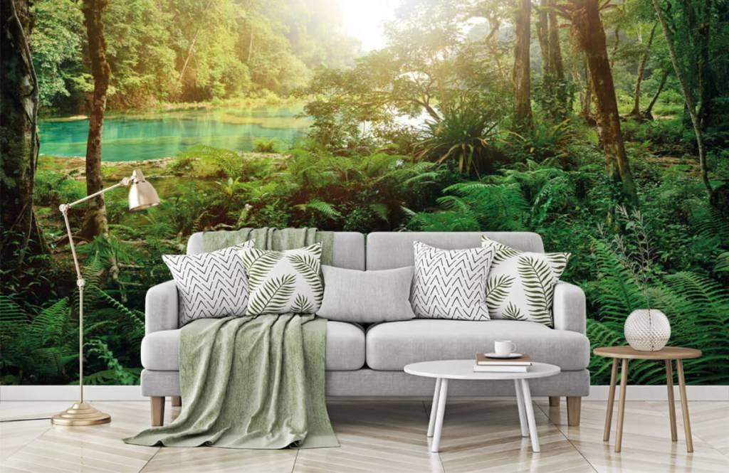 Wald Tapete - See im Dschungel - Schlafzimmer 1