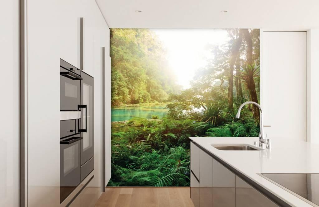 Wald Tapete - See im Dschungel - Schlafzimmer 4