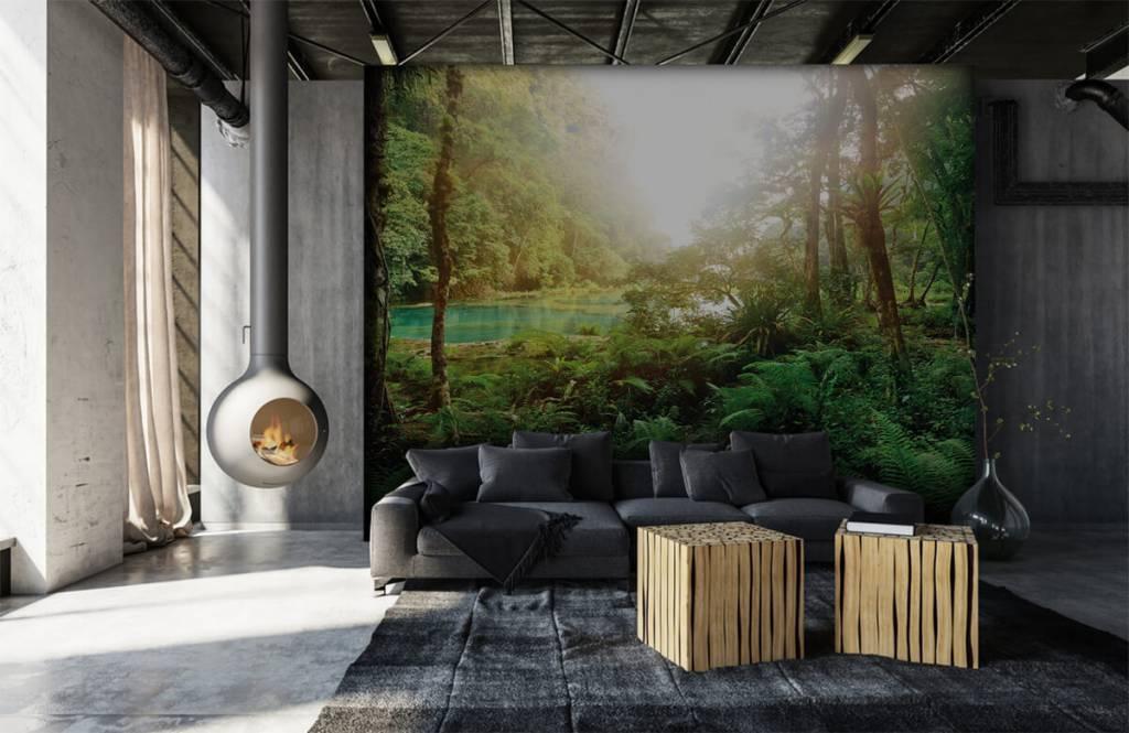Wald Tapete - See im Dschungel - Schlafzimmer 7