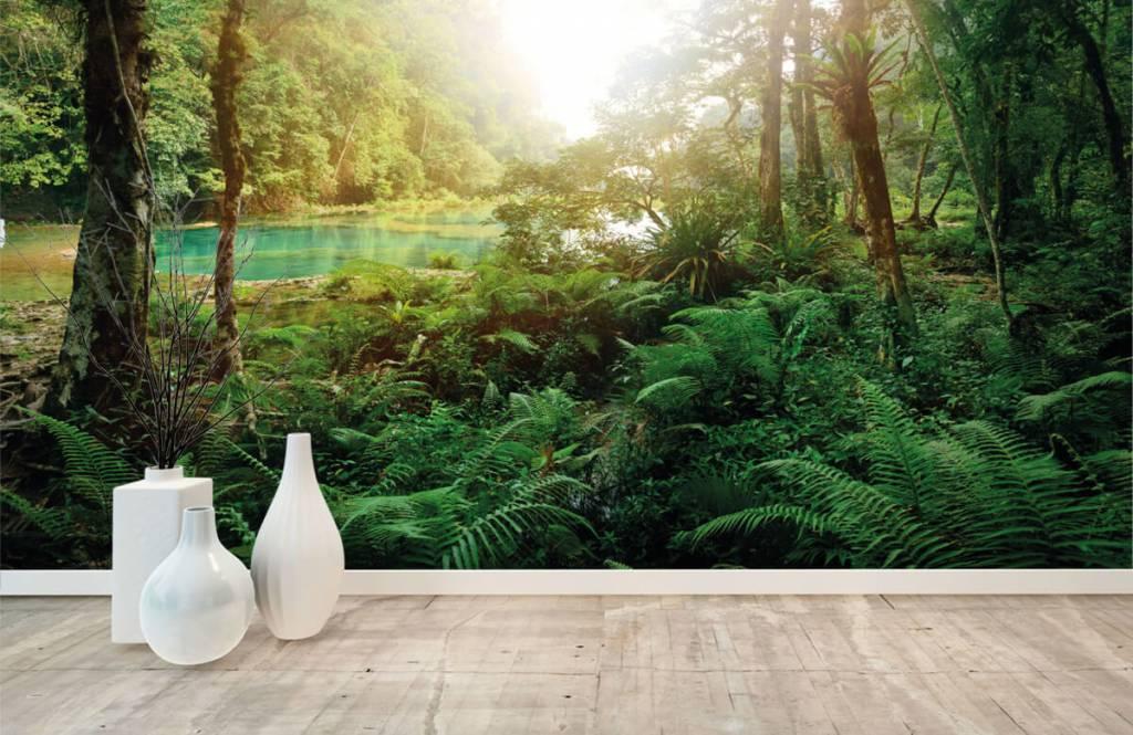 Wald Tapete - See im Dschungel - Schlafzimmer 8