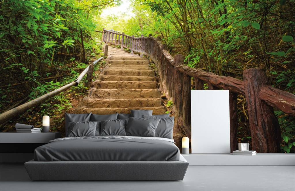 Wald Tapete - Treppen im Wald - Schlafzimmer 3