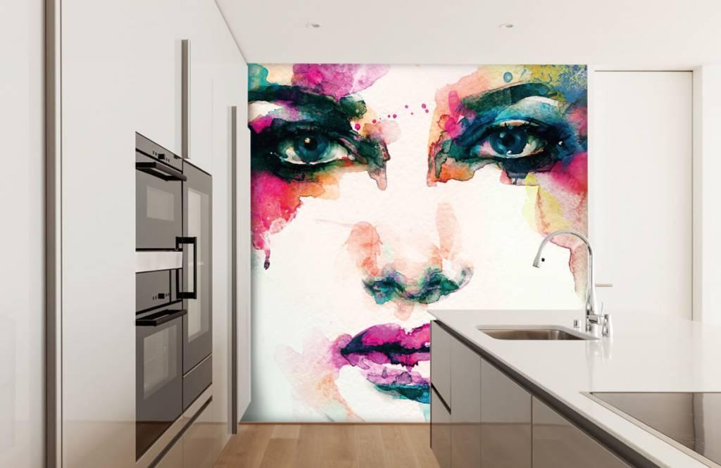 Portetten und Gesichter - Abstrakter Kopf - Wohnzimmer 8
