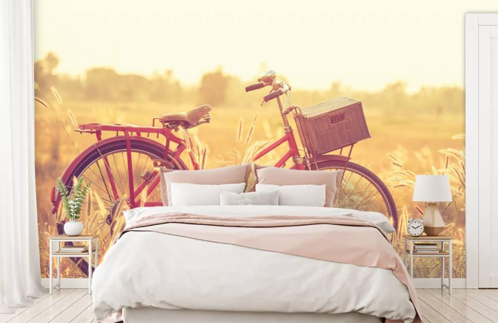 Landschafts Tapete - Vintage Fahrrad - Schlafzimmer 1