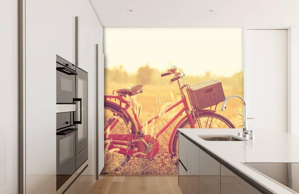 Landschafts Tapete - Vintage Fahrrad - Schlafzimmer 3