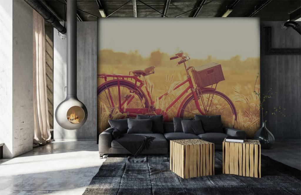 Landschafts Tapete - Vintage Fahrrad - Schlafzimmer 6