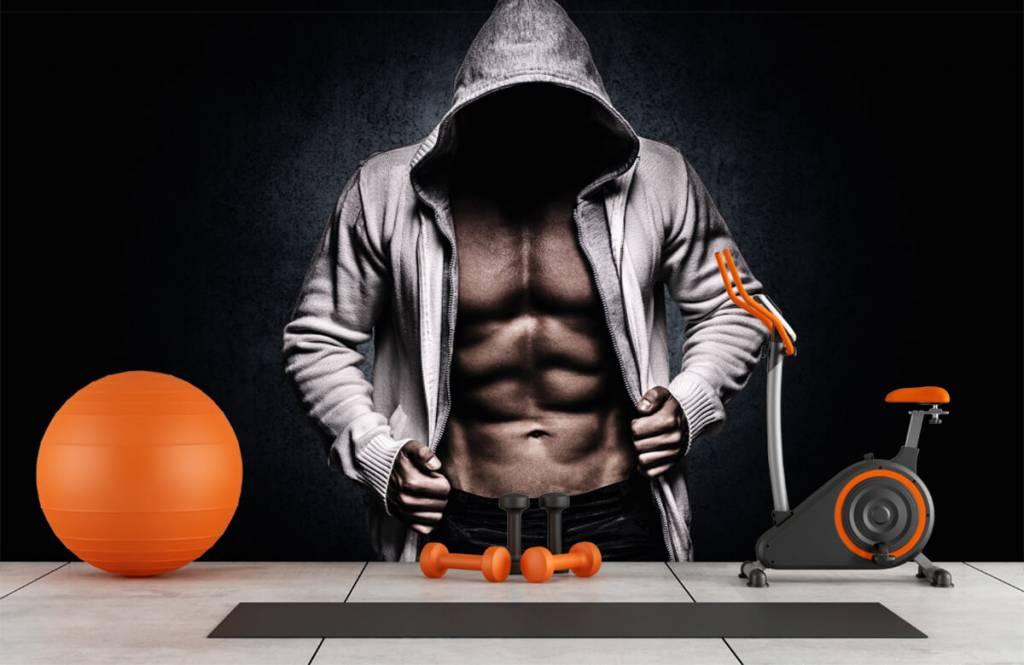 Fitness - Muskulöser Mann - Hobbyzimmer 1