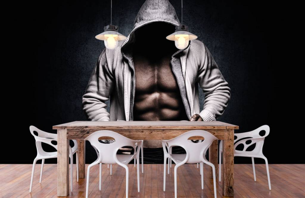Fitness - Muskulöser Mann - Hobbyzimmer 8