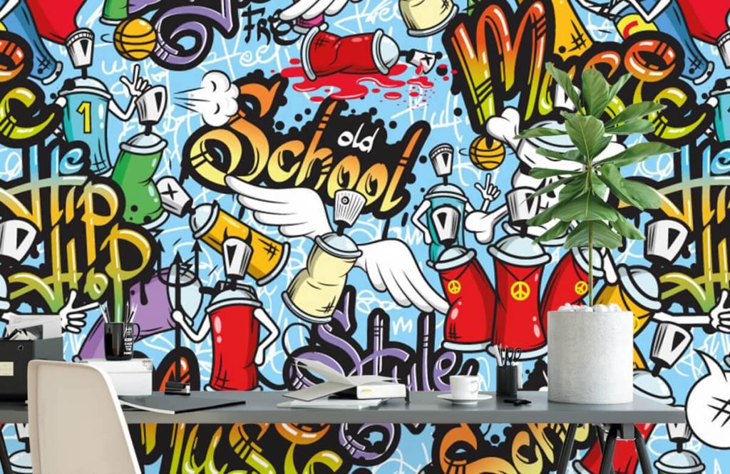 Kinder Tapete - Musik-Graffiti - Kinderzimmer 1