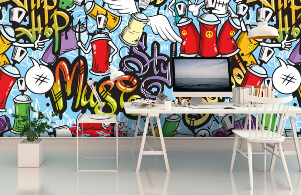 Kinder Tapete - Musik-Graffiti - Kinderzimmer 2