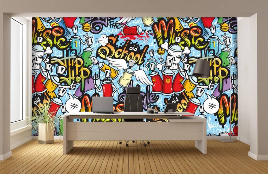 Kinder Tapete - Musik-Graffiti - Kinderzimmer 3