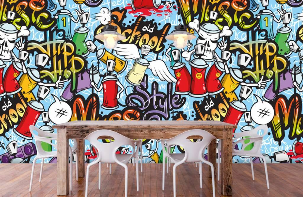 Kinder Tapete - Musik-Graffiti - Kinderzimmer 6