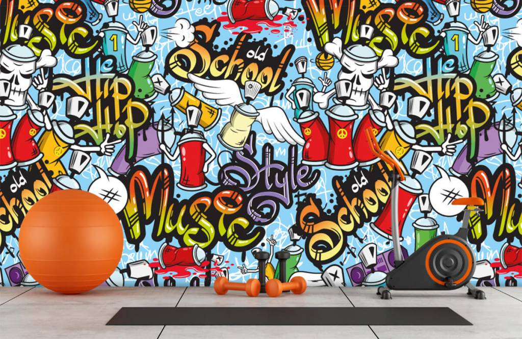 Kinder Tapete - Musik-Graffiti - Kinderzimmer 8