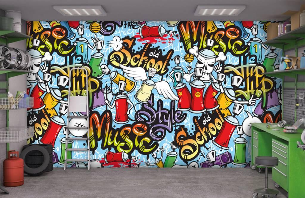 Kinder Tapete - Musik-Graffiti - Kinderzimmer 9