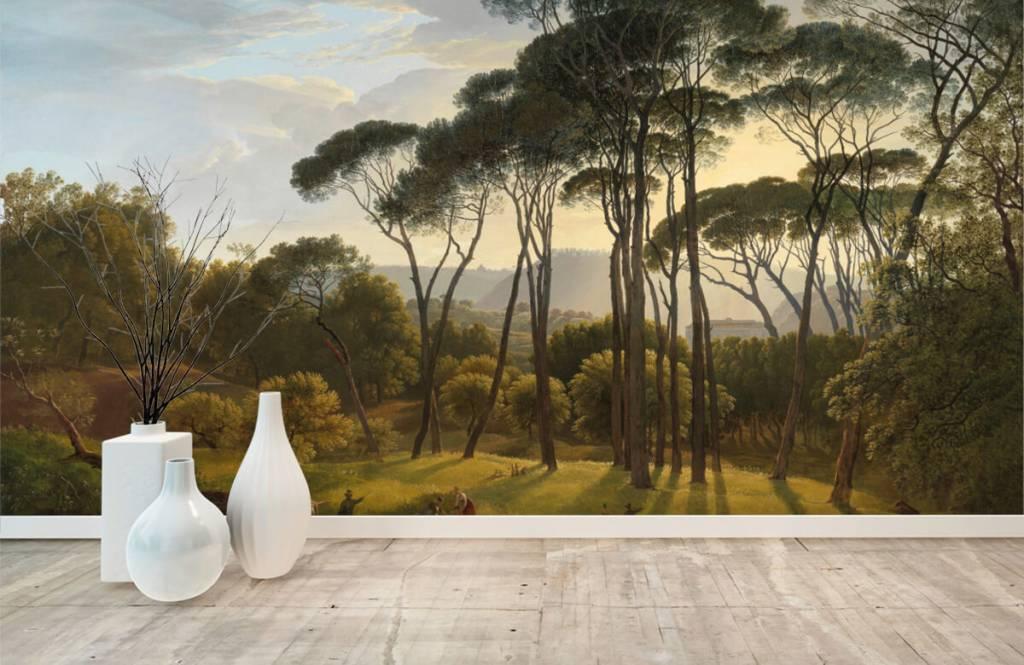 Rijksmuseum - Italienische Landschaft mit Schirm Kiefern auf Fototapete - Küchen 1