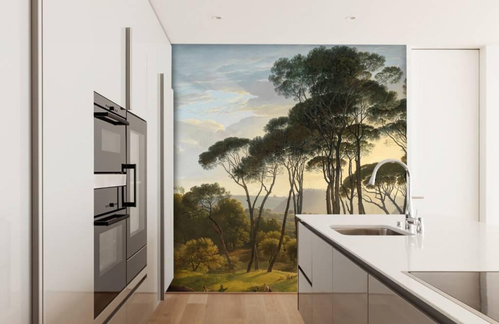 Rijksmuseum - Italienische Landschaft mit Schirm Kiefern auf Fototapete - Küchen 4
