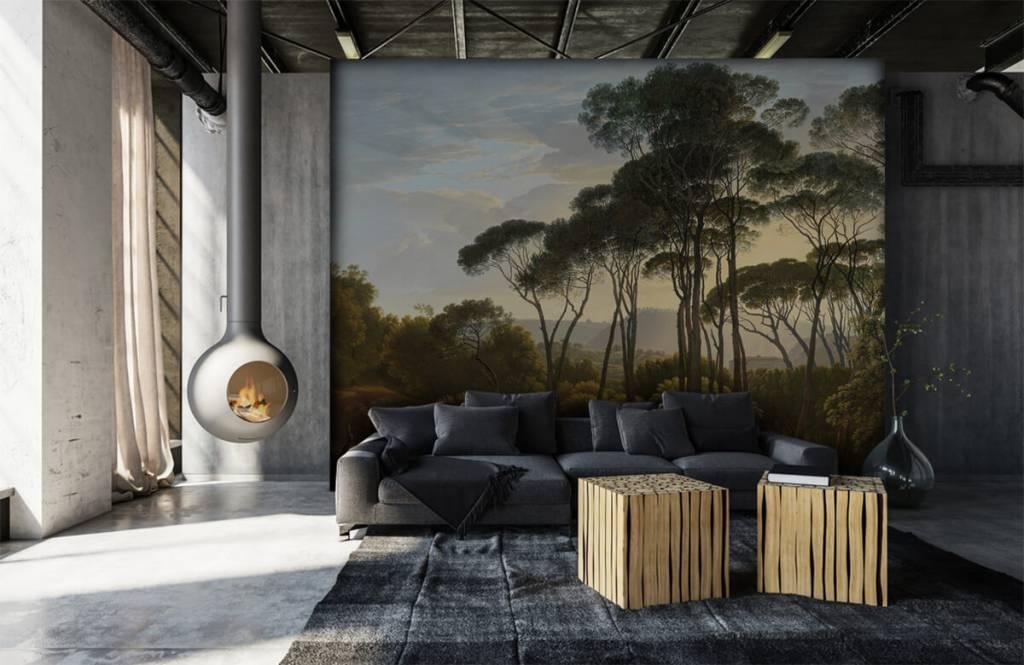 Rijksmuseum - Italienische Landschaft mit Schirm Kiefern auf Fototapete - Küchen 7