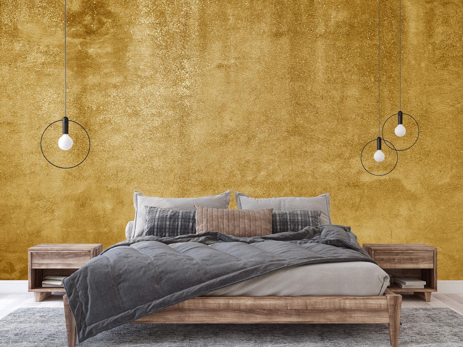 Betonoptik Tapete - Ockerhaltiger gelber Beton auf Fototapete - Wohnzimmer 3