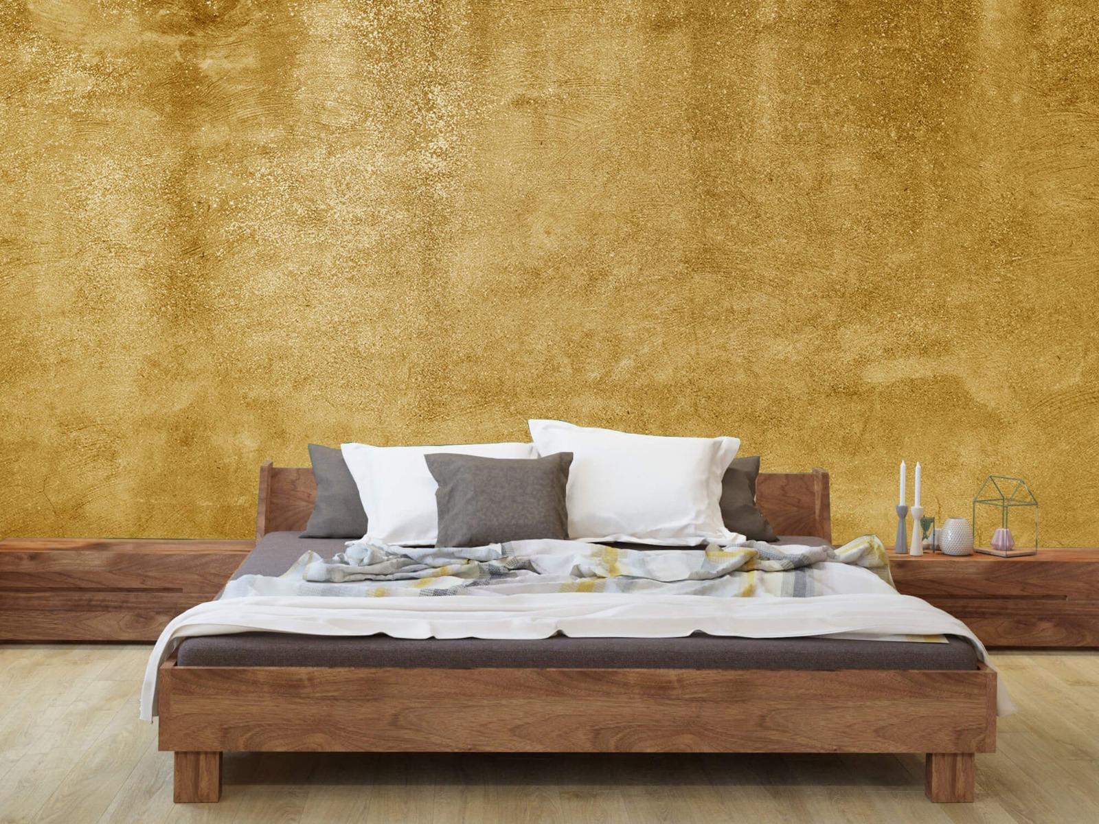 Betonoptik Tapete - Ockerhaltiger gelber Beton auf Fototapete - Wohnzimmer 8