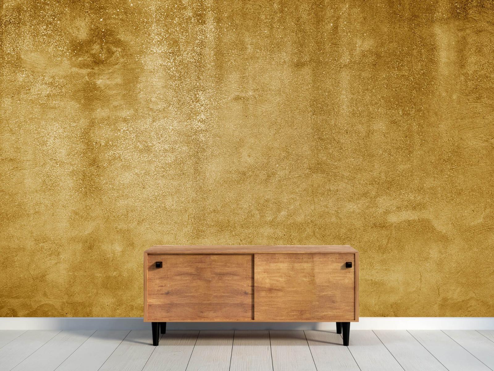 Betonoptik Tapete - Ockerhaltiger gelber Beton auf Fototapete - Wohnzimmer 10
