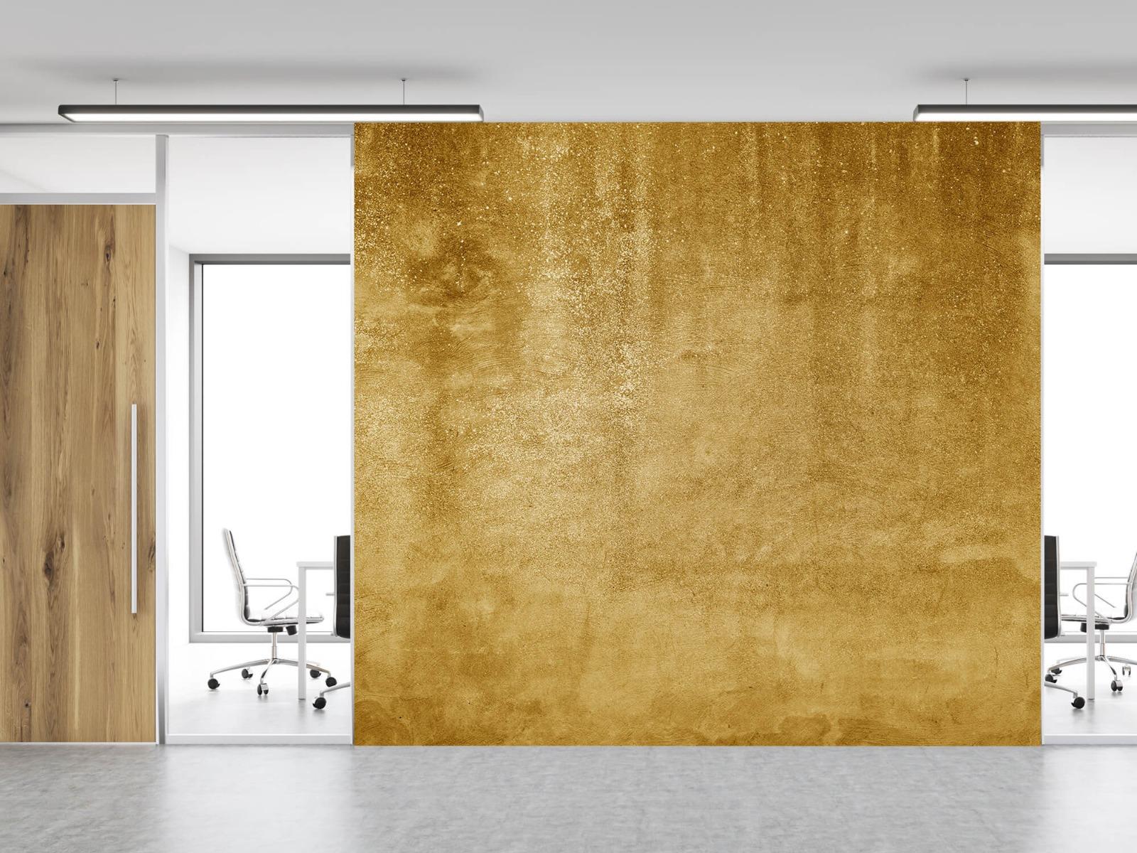 Betonoptik Tapete - Ockerhaltiger gelber Beton auf Fototapete - Wohnzimmer 12