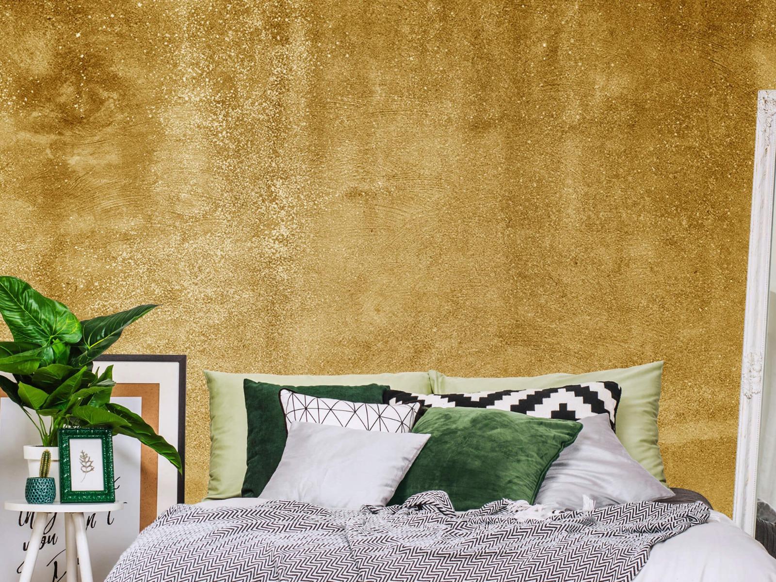 Betonoptik Tapete - Ockerhaltiger gelber Beton auf Fototapete - Wohnzimmer 13