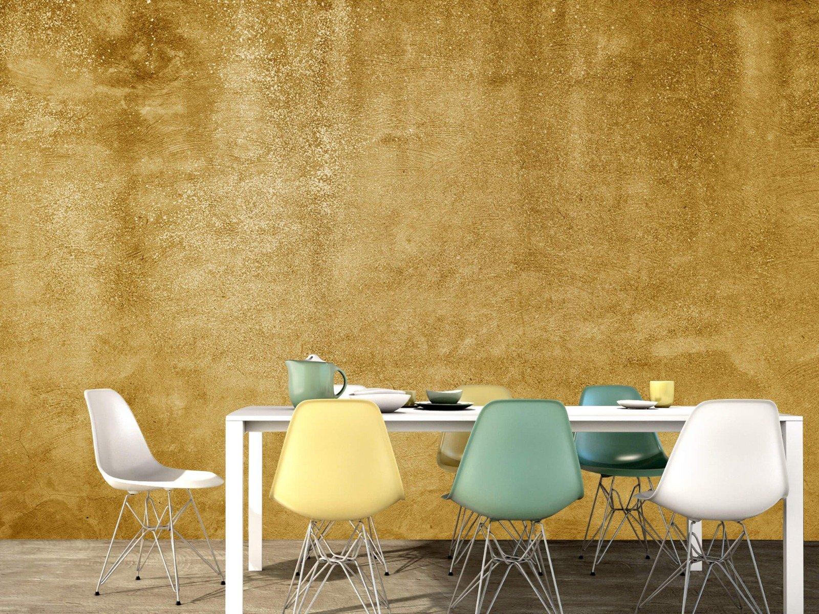 Betonoptik Tapete - Ockerhaltiger gelber Beton auf Fototapete - Wohnzimmer 15