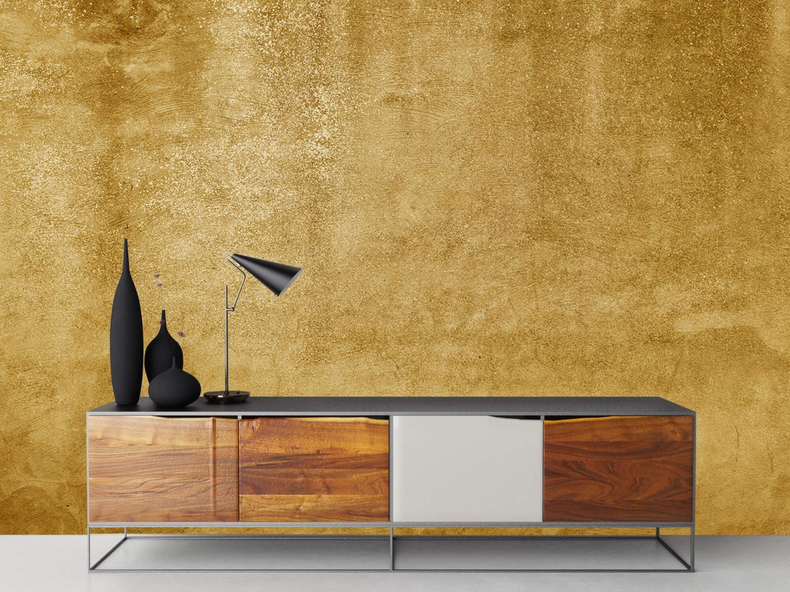 Betonoptik Tapete - Ockerhaltiger gelber Beton auf Fototapete - Wohnzimmer 16