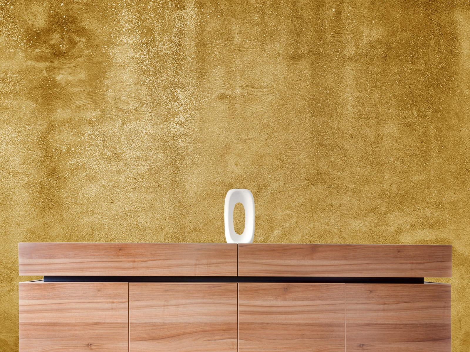 Betonoptik Tapete - Ockerhaltiger gelber Beton auf Fototapete - Wohnzimmer 20