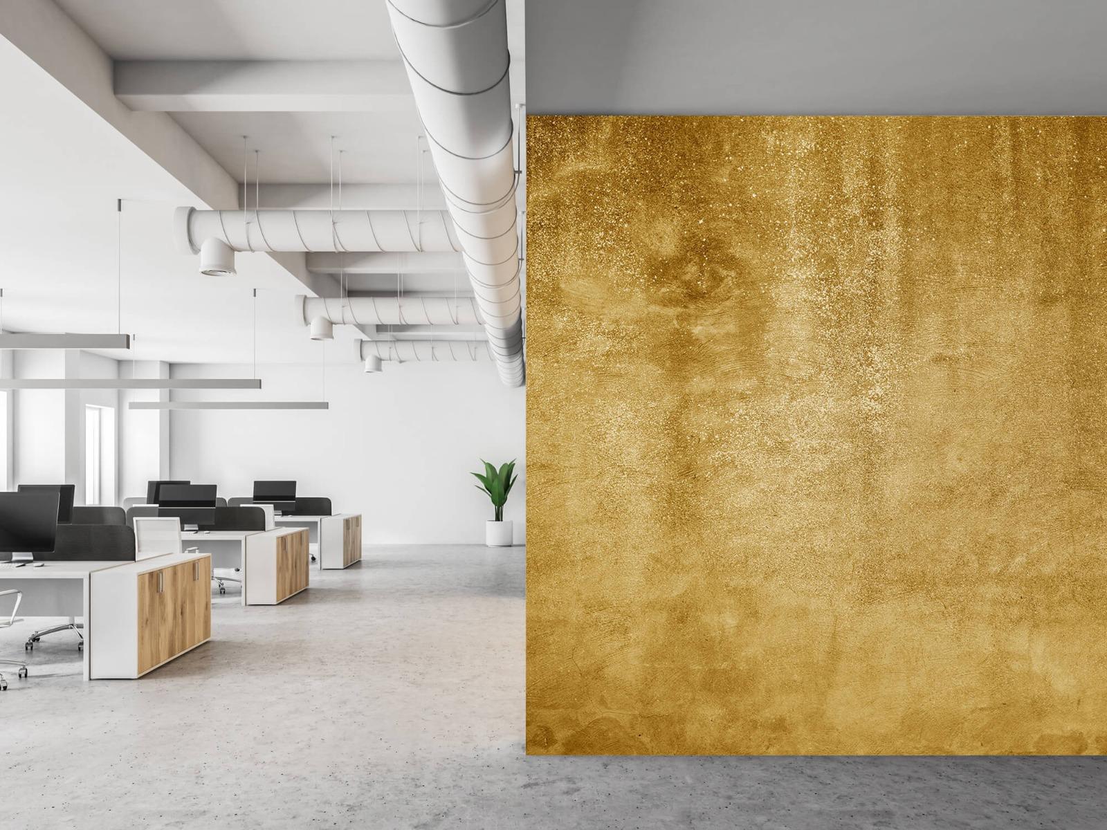 Betonoptik Tapete - Ockerhaltiger gelber Beton auf Fototapete - Wohnzimmer 21